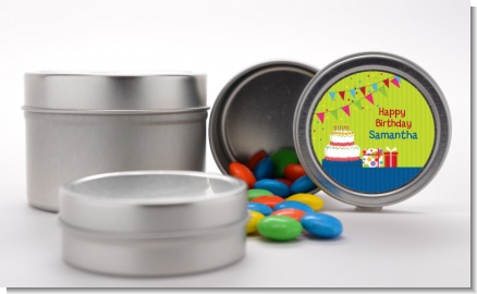 Birthday Cake - Custom Birthday Party Favor Tins