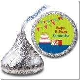 Birthday Cake - Hershey Kiss Birthday Party Sticker Labels