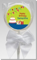 Birthday Cake - Personalized Birthday Party Lollipop Favors