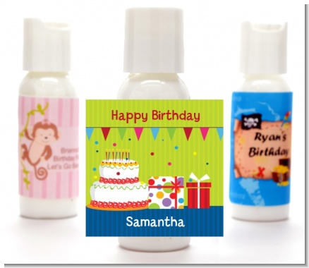 Birthday Cake - Personalized Birthday Party Lotion Favors