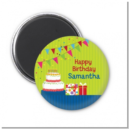 Birthday Cake - Personalized Birthday Party Magnet Favors