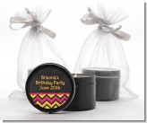 Birthday Girl Chalk Inspired - Birthday Party Black Candle Tin Favors