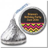 Birthday Girl Chalk Inspired - Hershey Kiss Birthday Party Sticker Labels