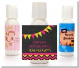 Birthday Girl Chalk Inspired - Personalized Birthday Party Lotion Favors