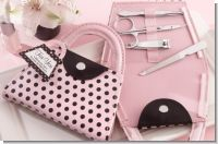 Pink Polka Purse Manicure Set