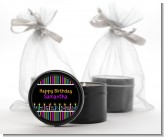 Birthday Wishes - Birthday Party Black Candle Tin Favors