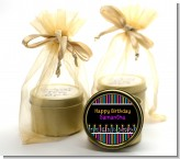 Birthday Wishes - Birthday Party Gold Tin Candle Favors