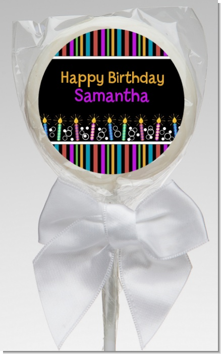 Birthday Wishes - Personalized Birthday Party Lollipop Favors