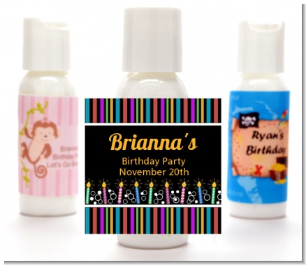 Birthday Wishes - Personalized Birthday Party Lotion Favors