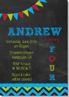 Birthday Boy Chalk Inspired - Birthday Party Invitations