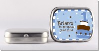 1st Birthday Topsy Turvy Blue Cake - Personalized Birthday Party Mint Tins