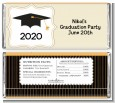 Black & Gold - Personalized Graduation Party Candy Bar Wrappers thumbnail