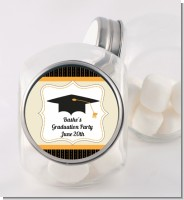 Black & Gold - Personalized Graduation Party Candy Jar