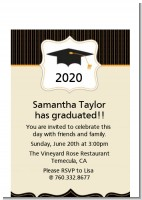 Black & Gold - Graduation Party Petite Invitations