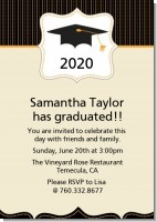 Black & Gold - Graduation Party Invitations