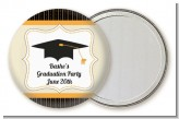 Black & Gold - Personalized Graduation Party Pocket Mirror Favors