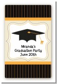 Black & Gold - Custom Large Rectangle Graduation Party Sticker/Labels