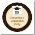 Black & Gold - Personalized Graduation Party Table Confetti thumbnail