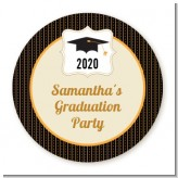 Black & Gold - Personalized Graduation Party Table Confetti