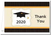Black & Gold - Graduation Party Thank You Cards