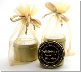 Black and Gold Glitter - Birthday Party Gold Tin Candle Favors