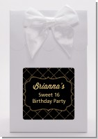 Black and Gold Glitter - Birthday Party Goodie Bags