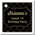Black and Gold Glitter - Personalized Birthday Party Card Stock Favor Tags thumbnail