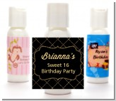 Black and Gold Glitter - Personalized Birthday Party Lotion Favors
