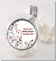 Black and Red Vine - Personalized Bridal Shower Candy Jar