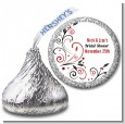 Black and Red Vine - Hershey Kiss Bridal Shower Sticker Labels thumbnail