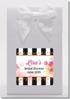 Black And White Stripe Floral Watercolor - Bridal Shower Goodie Bags