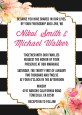 Black And White Stripe Floral Watercolor - Bridal Shower Invitations thumbnail
