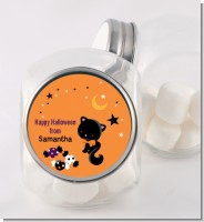 Black Cat - Personalized Halloween Candy Jar