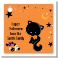 Black Cat - Personalized Halloween Card Stock Favor Tags thumbnail