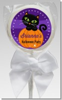 Black Cat Pumpkin - Personalized Halloween Lollipop Favors