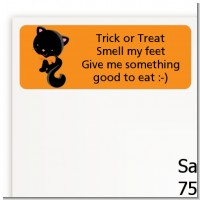 Black Cat - Halloween Return Address Labels