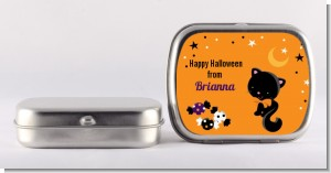 Black Cat - Personalized Halloween Mint Tins