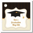 Black & Gold - Personalized Graduation Party Card Stock Favor Tags thumbnail