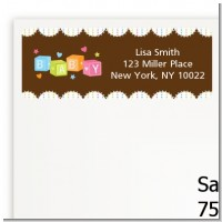 Baby Blocks - Baby Shower Return Address Labels