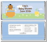 Blooming Baby Boy African American - Personalized Baby Shower Candy Bar Wrappers