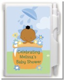 Blooming Baby Boy African American - Baby Shower Personalized Notebook Favor