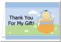Blooming Baby Boy Asian - Baby Shower Thank You Cards