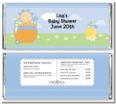 Blooming Baby Boy Caucasian - Personalized Baby Shower Candy Bar Wrappers