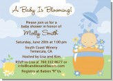 Blooming Baby Boy Caucasian - Baby Shower Invitations
