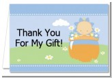 Blooming Baby Boy Caucasian - Baby Shower Thank You Cards