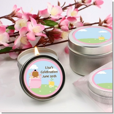 Blooming Baby Girl African American - Baby Shower Candle Favors