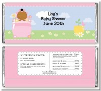 Blooming Baby Girl African American - Personalized Baby Shower Candy Bar Wrappers