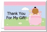 Blooming Baby Girl African American - Baby Shower Thank You Cards