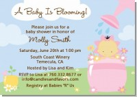 Blooming Baby Girl Asian - Baby Shower Invitations