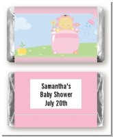 Blooming Baby Girl Asian - Personalized Baby Shower Mini Candy Bar Wrappers